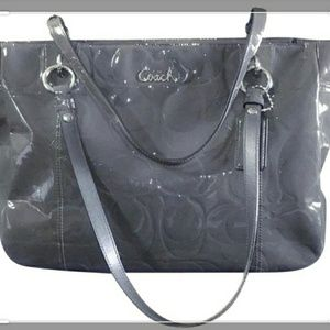 Coach Signature Embossed Grey Gallery Tote-EUC